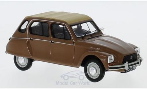 Citroen Dyane 1/43 IXO Nazare marron/beige 1982 miniature
