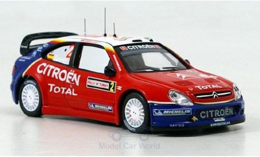 Citroen Xsara 1/43 IXO WRC No.2 Rallye WM Rally Türkei 2005 C.Sainz/L.Moya miniature