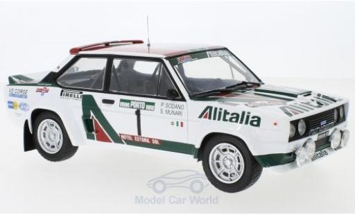 Fiat 131 1/18 IXO Abarth No.1 Alitalia Rallye WM Rallye Portugal 1978 S.Munari/P.Sodano miniature