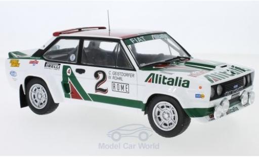 Fiat 131 1/18 IXO Abarth No.2 Alitalia Rallye WM Rally Monte Carlo 1978 W.Röhrl/C.Geistdörfer diecast