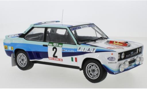 Fiat 131 1/18 IXO Abarth No.2 Rallye WM Rally Portugal 1980 M.Alen/I.Kivimaki