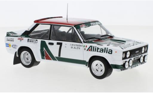 Fiat 131 1/24 IXO Abarth No.5 Rally Acropolis 1978 W.Röhrl/C.Geistdörfer miniature