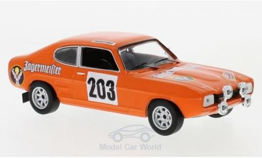 Ford Capri 1/43 IXO MkI No.203 Jägermeister Rally Monte Carlo 1973 E.Schimpf/E.-J.Zauner miniature