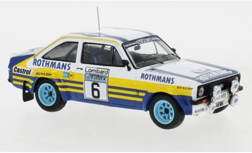 Ford Escort 1/43 IXO MK II RS No.6 Rothmans Rallye WM RAC Rally 1979 A.Vatanen/D.Richards miniature