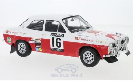 Ford Escort 1/18 IXO MK1 RS 1600 No.16 Embassy RAC Rallye 1971 T.Makinen/H.Liddon miniature