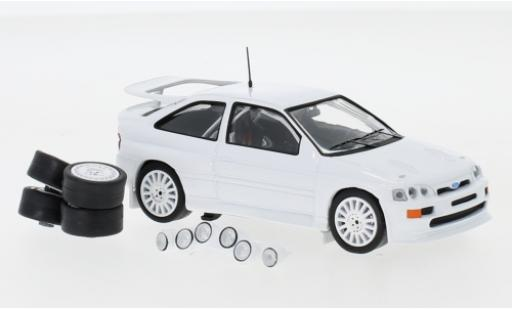 Ford Escort 1/43 IXO RS Cosworth blanche 1994 Plain Body Version y compris les 4 Ersatzräder et extra Scheinwerfer miniature