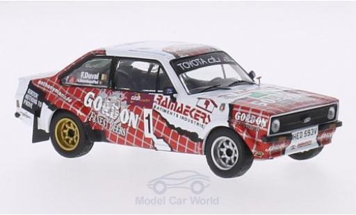 Ford Escort MKI 1/43 IXO RS I No.1 Gordon Boucles de Spa 2014 F.Duval/A.Bourdeaud hui miniature