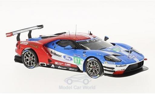Ford GT 1/43 IXO No.67 24h Le Mans 2017 A.Priaulx/H.Tincknell/P.Derani modellautos