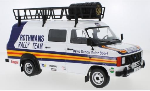 Ford Transit 1/18 IXO MK II Rothmans avec Rack de toit et charge miniature