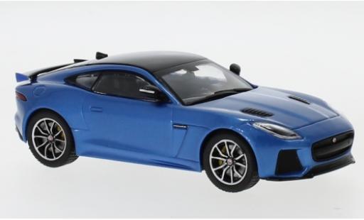 Jaguar F-Type 1/43 IXO SVR metallise bleue/noire 2016 miniature