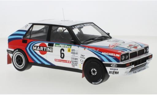 Lancia Delta 1/18 IXO Integrale 16V No.6 Martini Martini Rallye WM Rally Portugal 1990 J.Kankkunen/J.Piironen miniature