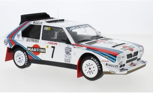 Lancia Delta 1/18 IXO S4 No.7 Martini Racing Martini Rally Monte Carlo 1986 H.Toivonen/S.Cresto miniature