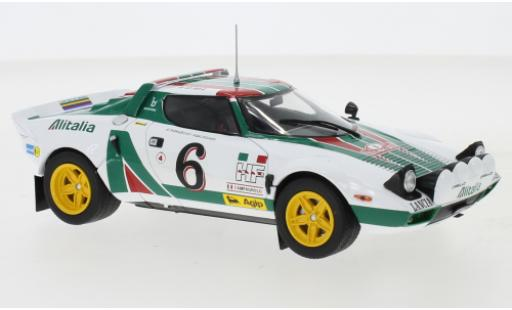 Lancia Stratos 1/24 IXO HF No.6 Rallye Monte-Carlo 1976 B.Waldegard/B.Thorszelius miniature