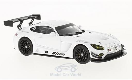 Mercedes AMG GT 1/43 IXO 3 blanche 2017 Race Version miniature