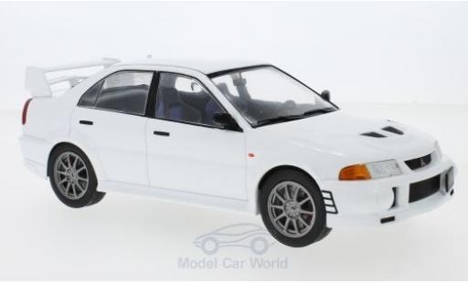 Mitsubishi Lancer Evolution VI 1/18 IXO RS blanche 1998 miniature