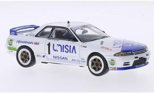 Nissan Skyline 1/43 IXO GT-R R32 RHD No.1 Unisia Macau Guia Race 1991 M.Hasemi modellino in miniatura