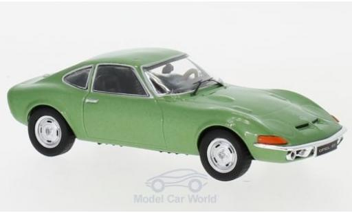 Opel GT 1/43 IXO metallise verte 1969 miniature