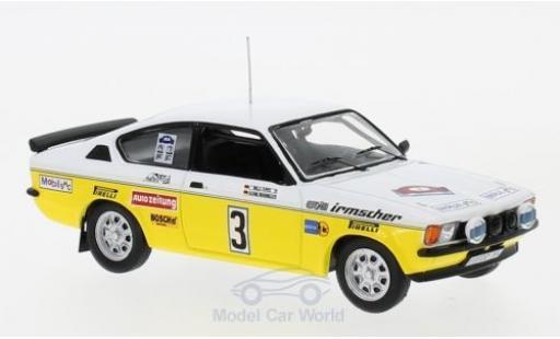 Opel Kadett GT 1/43 IXO C GT/E No.3 Irmscher Tuning Rallye DM Rallye Hunsrück 1978 A.Warmbold/W.Pitz miniature