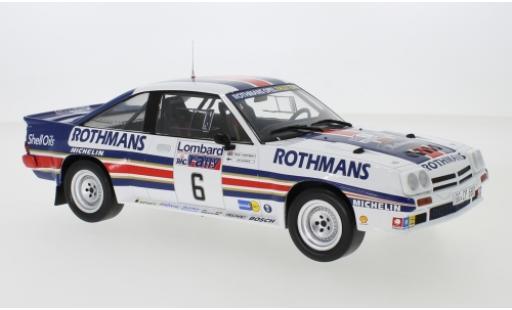 Opel Manta 1/18 IXO 400 No.6 Rothmans Rally Team Rothmans Rallye WM RAC Rallye 1983 A.Vatanen/T.Harryman diecast model cars