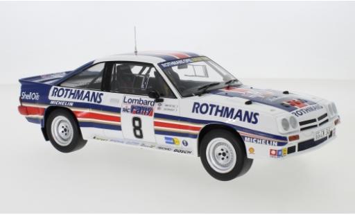 Opel Manta 1/18 IXO 400 No.8 Rothmans Rally Team Rothmans Rallye WM RAC Rallye 1983 J.McRae/I.Grindrod miniature
