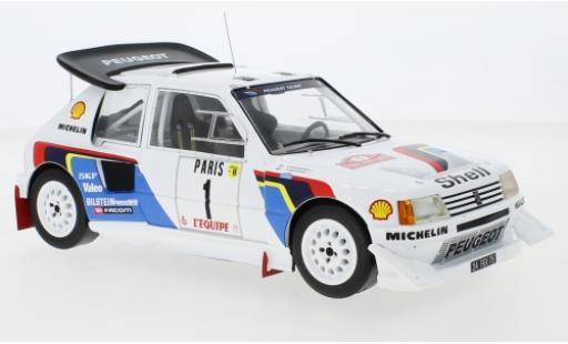 Peugeot 205 1/18 IXO T16 E2 No.1 Talbot Sport Rallye WM Rallye Monte Carlo 1986 T.Salonen/S.Harjanne miniature