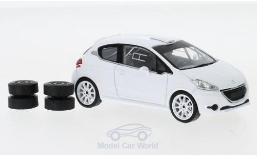 Peugeot 208 1/43 IXO R2 blanche 2013 Plain Body Version inklusive 4 Ersatzräder miniature