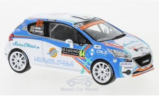 Peugeot 208 1/43 IXO R2 WRC No.64 WRC Rallye Monte Carlo 2018 A.Mole/R.Herman miniature