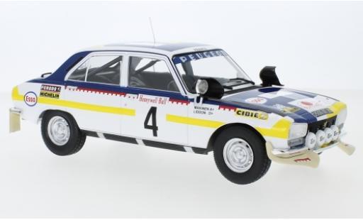 Peugeot 504 1/18 IXO Ti No.4 Rallye Marokko 1975 T.Mäkinen/H.Liddon miniature