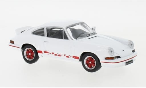 Porsche 911 RS 1/43 IXO Carrera 2.7 blanche/rouge 1973 miniature