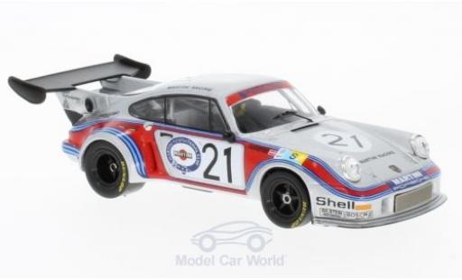 Porsche 930 Turbo 1/43 IXO 911 Carrera RSR 2.1 No.21 Martini Racing Team Martini 24h Le Mans 1974 M.Schurti/H.Koinigg miniature