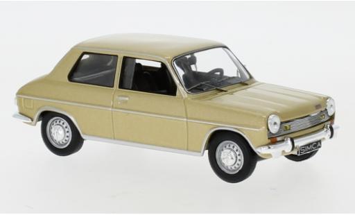 Simca 1100 1/43 IXO Special gold 1970 miniature