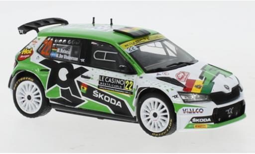 Skoda Fabia 1/43 IXO Rally 2 EVO No.22 Rally Monte Carlo 2021 M.Bulacia Wilkinson/M.Der Ohannesian miniature