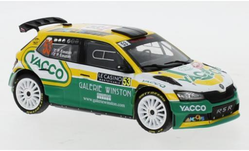 Skoda Fabia 1/43 IXO Rally 2 EVO No.53 Rally Monte Carlo 2021 P.Eouzan/P.Eouzan miniature