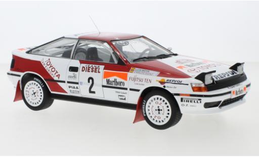 Toyota Celica 1/18 IXO GT-Four ST165 No.2 Team Europe Rallye WM Rallye San Remo 1990 C.Sainz/L.Moya miniature