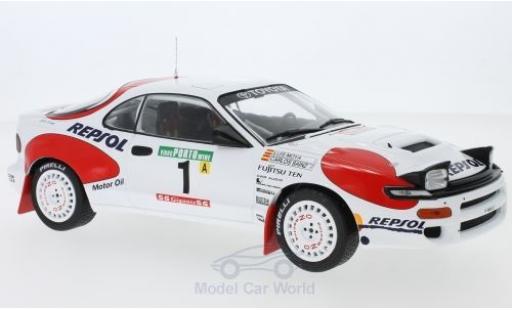 Toyota Celica 1/18 IXO GT-Four ST185 No.1 Team Europe Rallye WM Rallye Portugal 1992 C.Sainz/L.Moya diecast