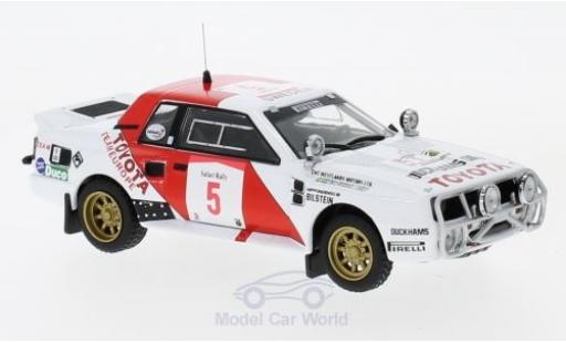 Toyota Celica 1/43 IXO TwinCam Turbo (TA64) No.5 Team Europe Rallye WM Safari Rallye 1984 B.Waldegard/H.Thorszelius modellautos