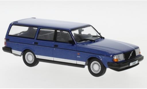 Volvo 240 1/43 IXO Polar metallise bleue 1988