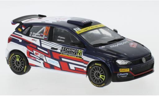 Volkswagen Polo 1/43 IXO GTI R5 No.21 Rally Monte Carlo 2021 N.Gryazin/K.Aleksandrov miniature