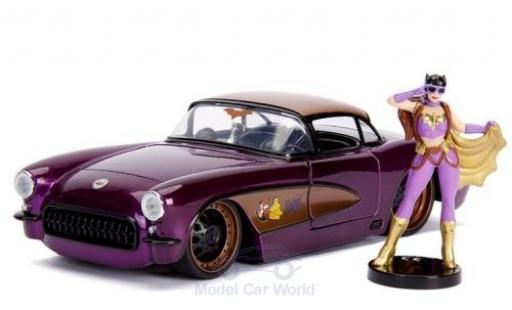 Chevrolet Corvette 1/24 Jada Toys Toys Toys Toys C2 Batgirl 1957 mit Figur DC Comics Bombss diecast model cars