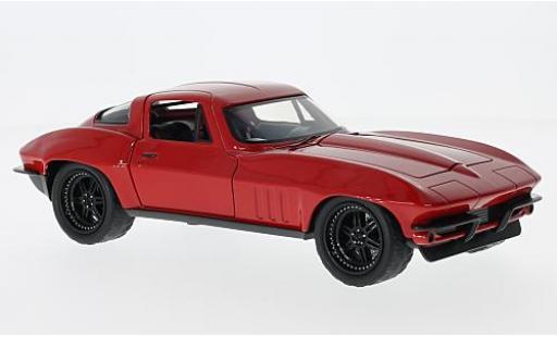 Chevrolet Corvette 1/24 Jada C2 red Fast & Furious tuning sans Vitrine