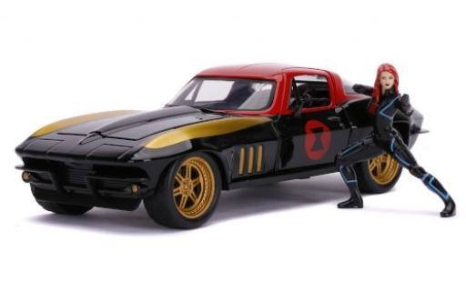 Chevrolet Corvette 1/24 Jada C2 Tuning Marvel Avengers - Black Widow 1966 avec figurine miniature