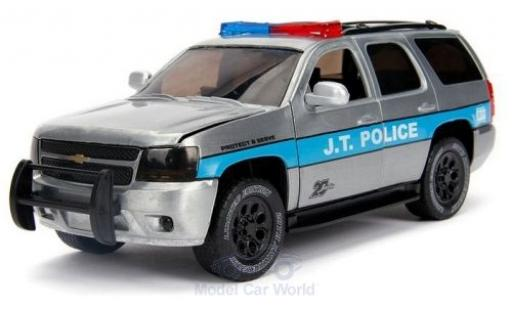 Chevrolet Tahoe 1/24 Jada grigio/blu J.T.Police 2010 miniatura