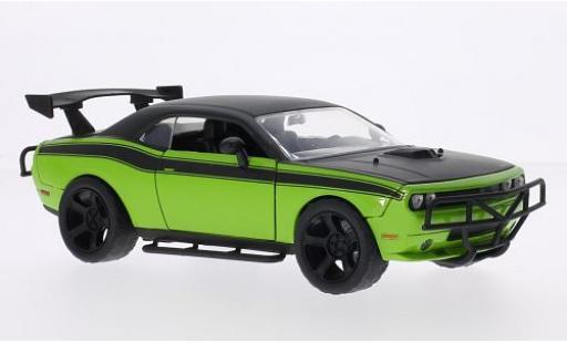 Dodge Challenger 1/24 Jada SRT8 Tuning verte/matt-noire Furious 7 2008 miniature