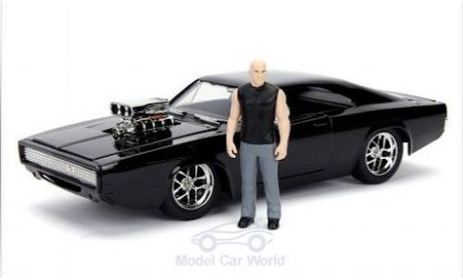 Dodge Charger 1/24 Jada Toys Toys Toys Toys R/T Street black Fast & Furious 1970 mit Figur diecast model cars