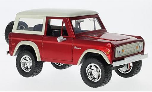 Ford Bronco 1/24 Jada Toys Hardtop rouge/beige 1973 sans Vitrine miniature
