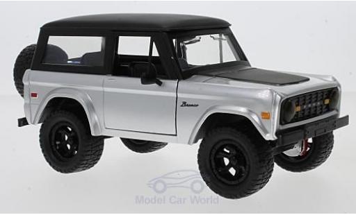 Ford Bronco 1/24 Jada silber/schwarz 1973 mit Tuningrädern modellautos