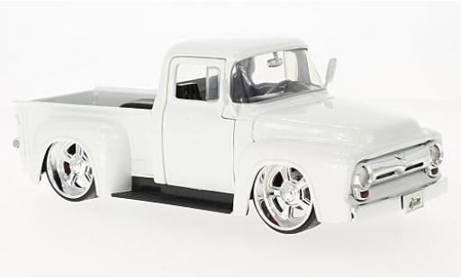 Ford F-1 1/24 Jada Toys 00 Pick Up metallise blanche 1956 miniature