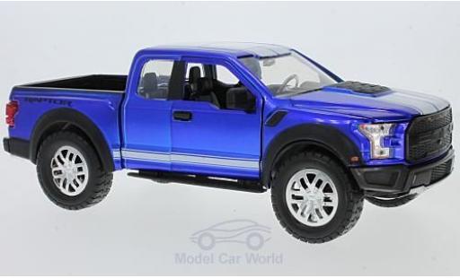 Ford F-1 1/24 Jada Toys 50 metallise bleue/blanche 2017 mit Tuningrädern miniature