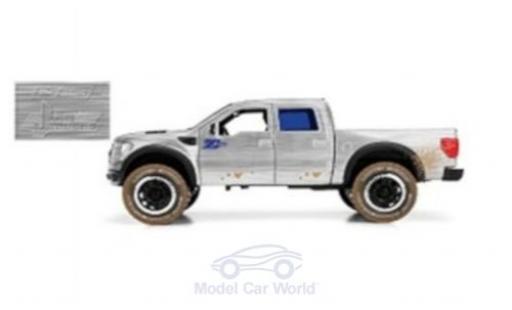 Ford F-1 1/24 Jada 50 SVT Raptor grise/bleue 2011 mit Schmutzeffekt miniature