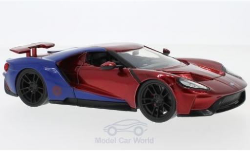 Ford GT 1/24 Jada Toys rouge/bleue Marvel Avengers - Spider Man 2017 mit Figur miniature